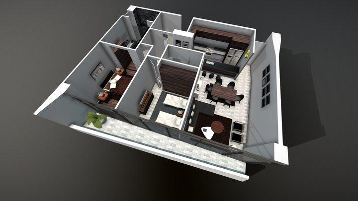 Plan Floor - architecture archiviz 3D Model