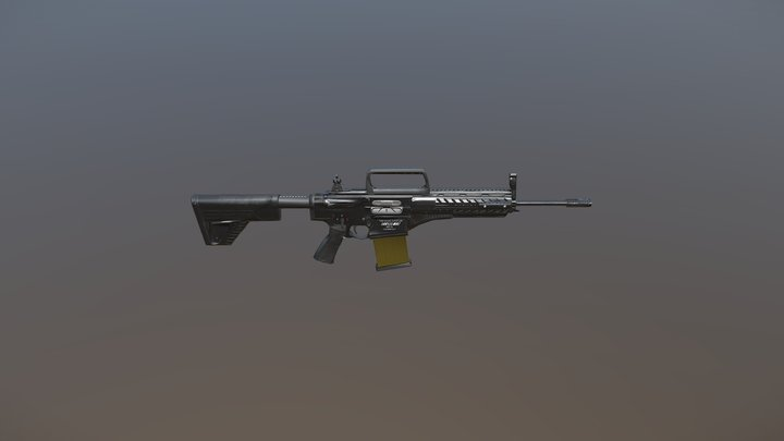 MPT-76 Turkish Rifle Game Ready Model 3D Model