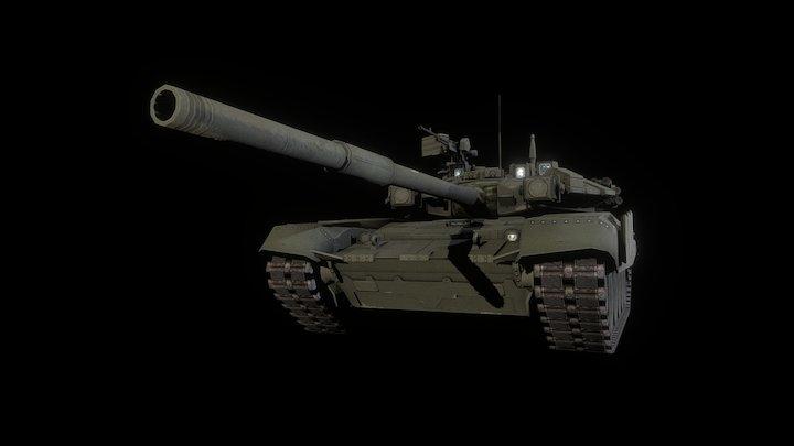 Russian T-90 MBT 3D Model