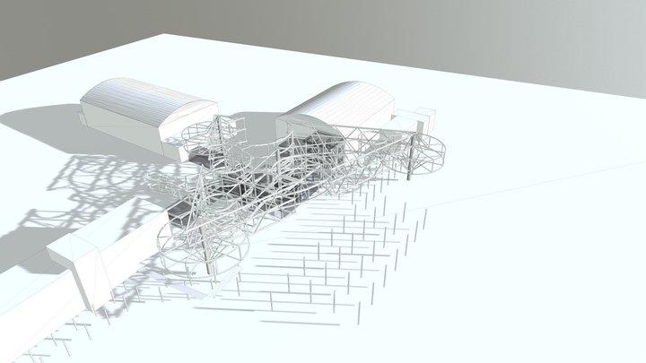 steel structure 3D Model