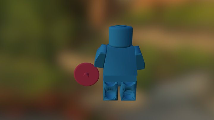 Lego Captain America With Shield 3D Model