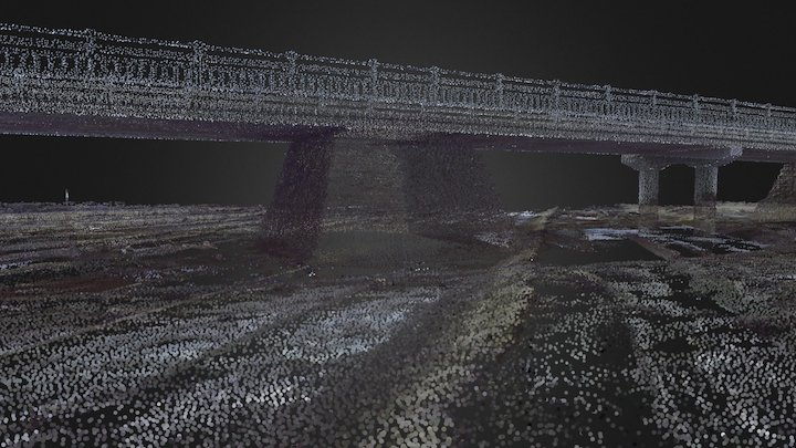 Aoshima pier point cloud 3D Model