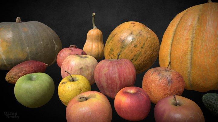 4K Photogrammetry Fruits 3D Model