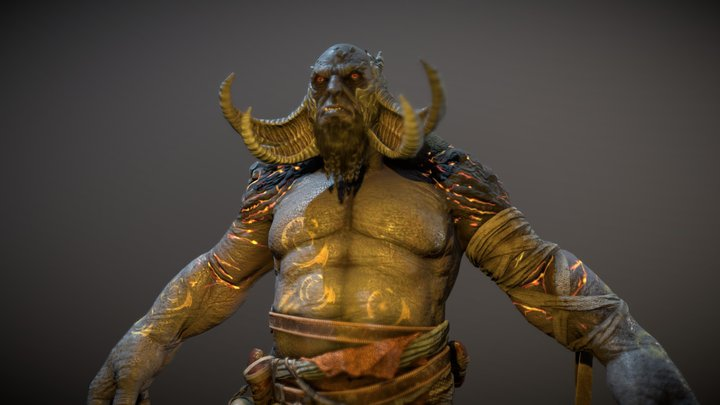G.O.W. Troll (Fan Art) 3D Model