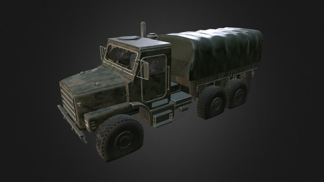 Dirty military truck 3D Model