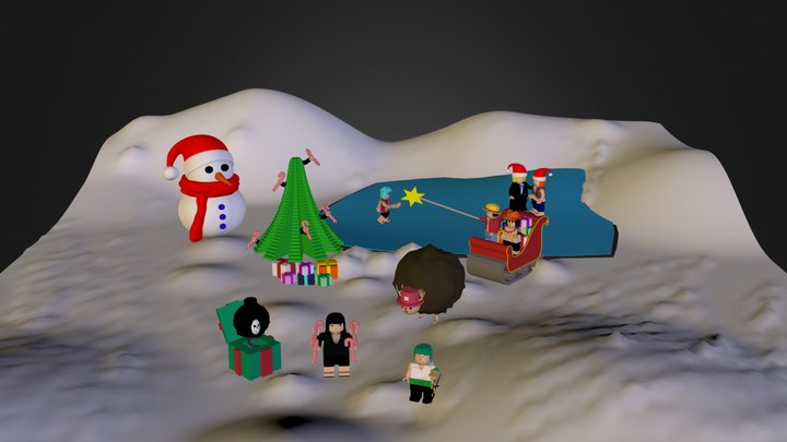 One Piece Lego Christmas 3D Model