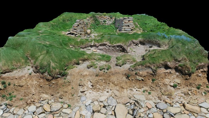 Point of Buckquoy Coastal Erosion 3D Model