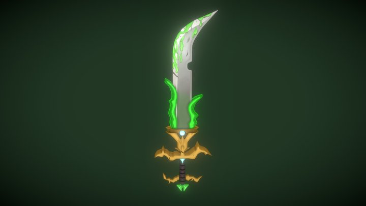 World of Warcraft Rogue Sword 3D Model