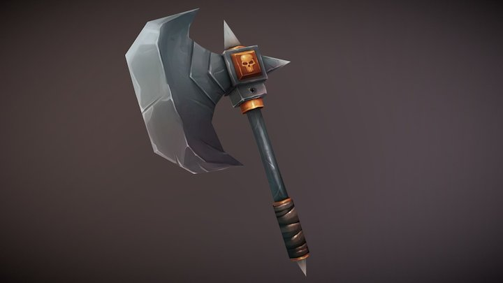 Low-poly Axe 3D Model