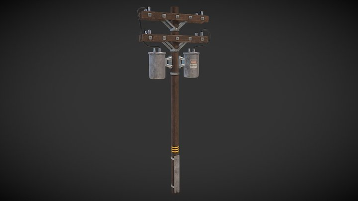 Electric Post 3D Model