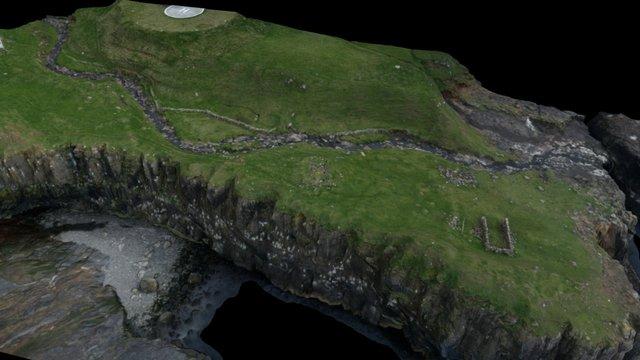 Bønhúsbergið, Mykines, Føroyar 3D Model