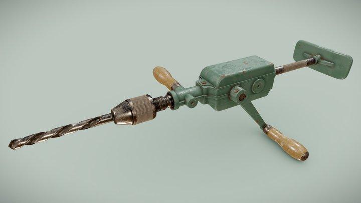 Vintage Peugeot Hand Drill 3D Model