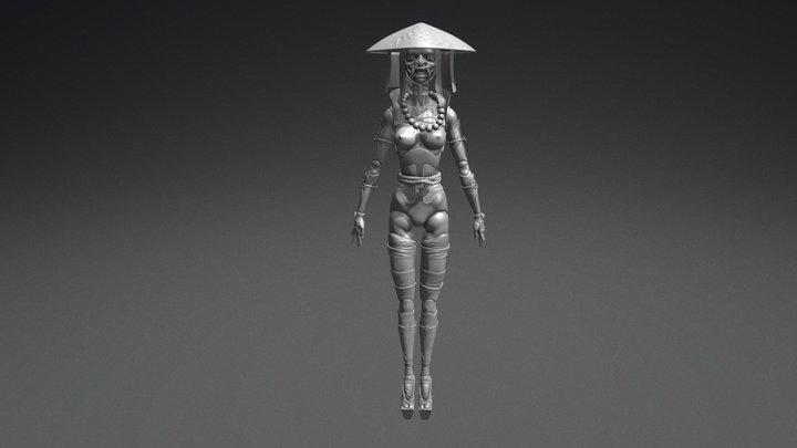 """BJD Doll """"Oni"""" 3D Model"""