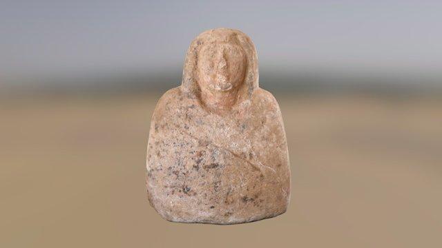 Sandstone bust of a man (Amara West, Sudan). 3D Model