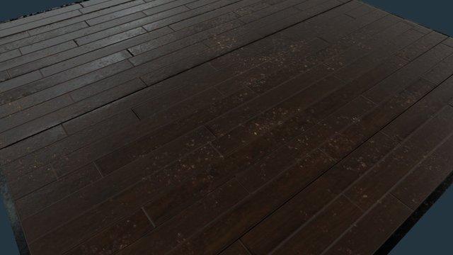 Substance Wood Floor Material PBR 3D Model