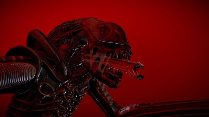 Alien Warrior 3D Model