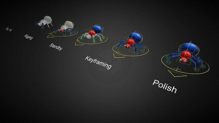3D3-W04-Basic Rigging (Polygon Bug) 3D Model