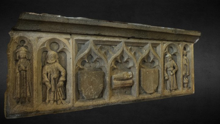Brading Church Tomb Relief 3D Model