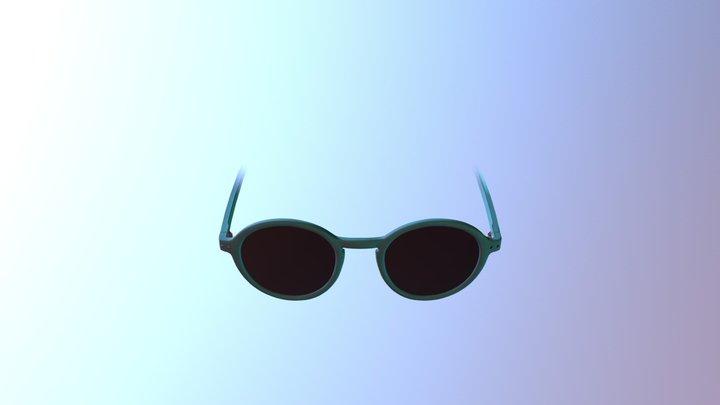 Teal Sunglasses - AR Face Filter 3D Model