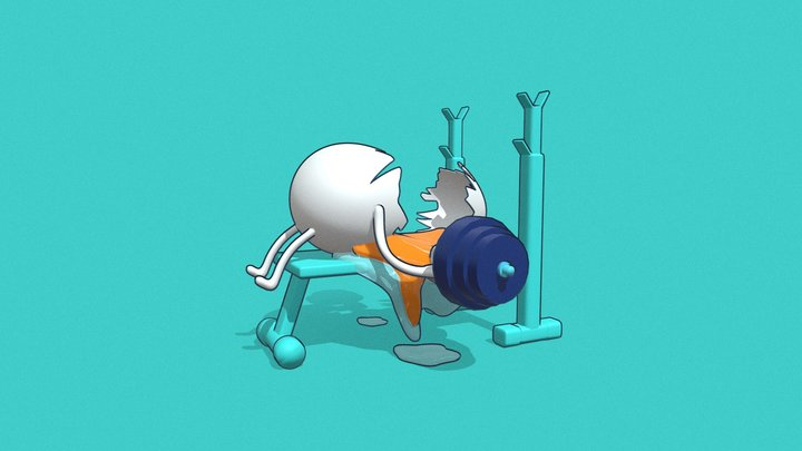 Egg-xaggerated workout 3D Model