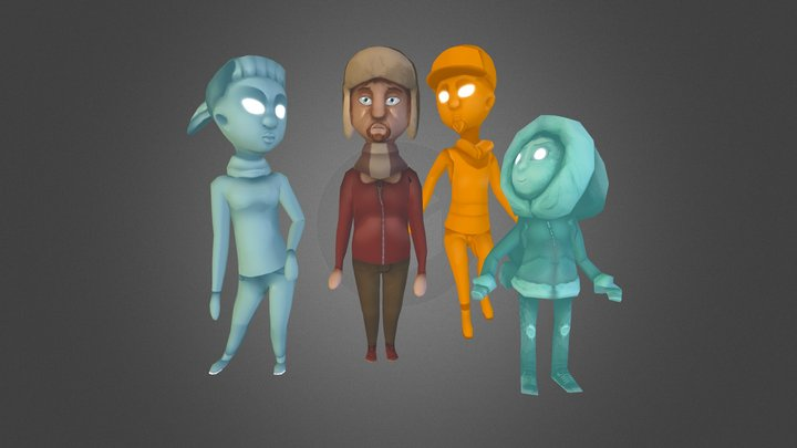 House Hauntings- Characters 3D Model