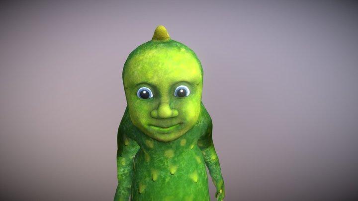 Cucumber Man 3D Model