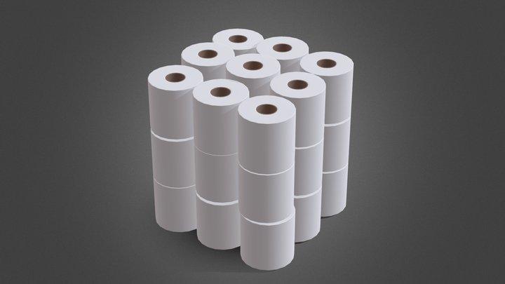TP Roll Pack 24X 3D Model
