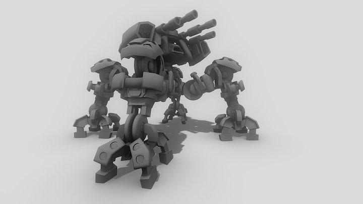 Speed art Quadmech 3D Model