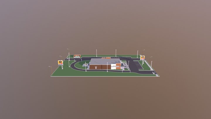 Commercial Use tanant 3D Model