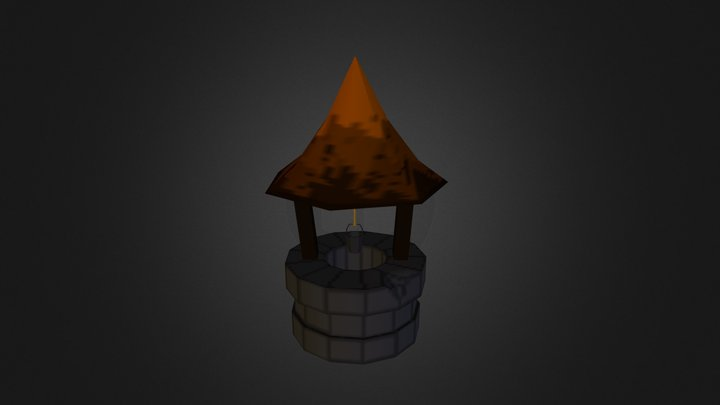1st Year - Low Poly Well 3D Model