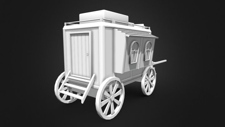 Mobile Home Wagon/Carriage 3D Model