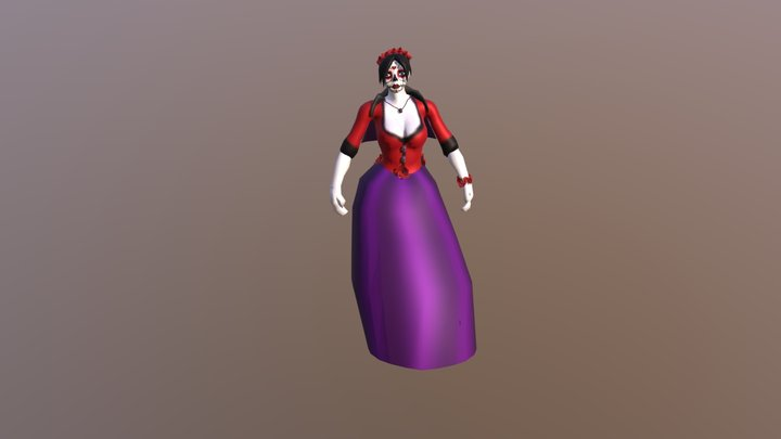 Death Damsel 3D Model
