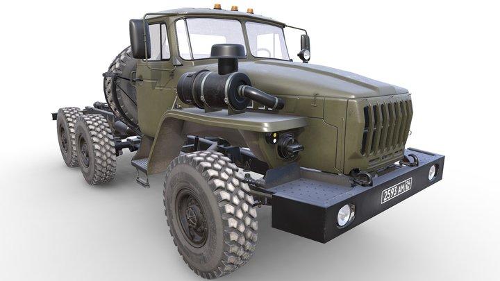 RUSSIAN MILITARY TRUCK URAL-4320 3D Model
