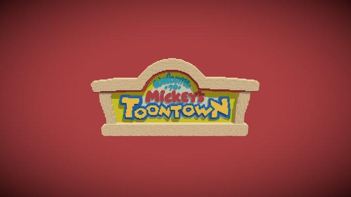 ToonTown Disneyland Sign Files Included 3D Model
