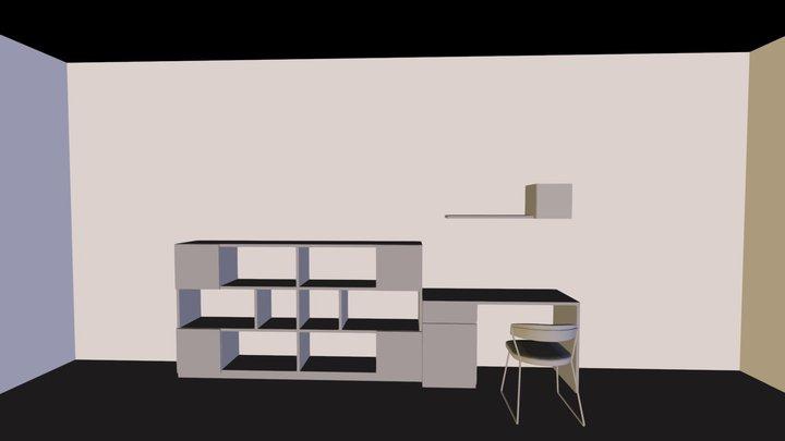 Library Unit 3D Model