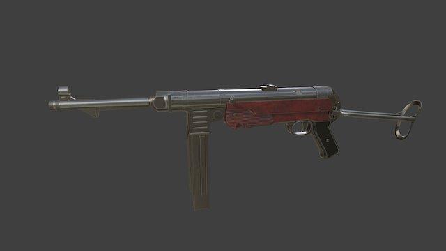 Maschinenpistole 40 3D Model