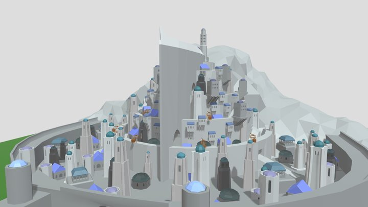 Minas Tirith For Epic Siege 3D Model