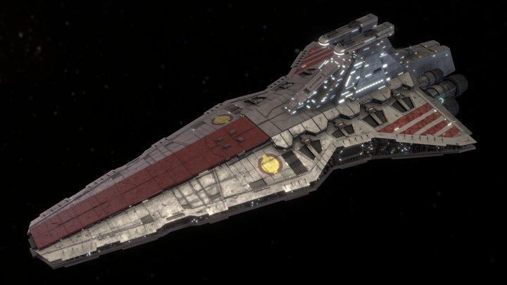 Venator class Republic star destroyer 3D Model