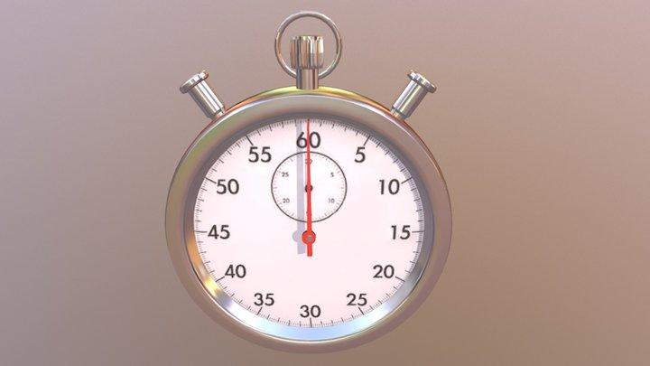 Stopwatch 3D Model