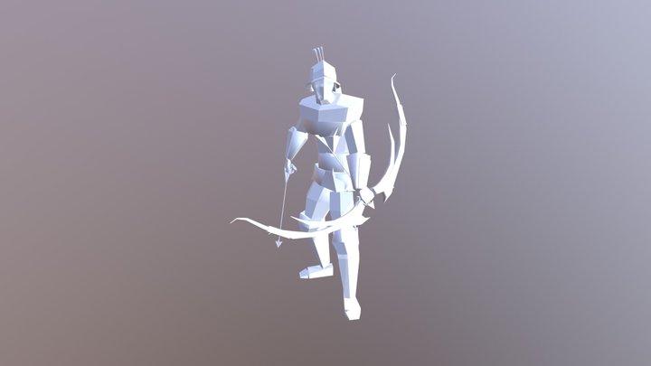 Low Poly Archer 3D Model