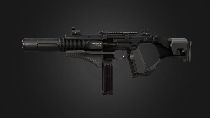 Submachine Gun Prototype 3D Model