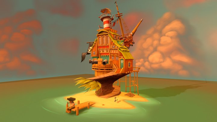 Pirate House 3D Model