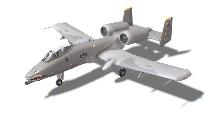 A-10 Thunderbolt Jet Fighter Aircraft 3D Model