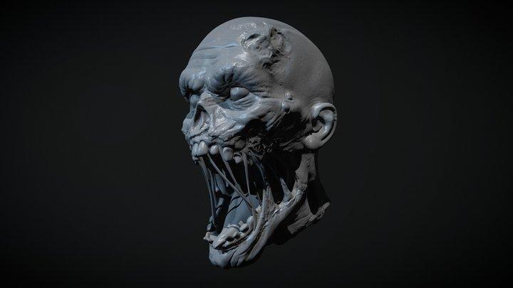 Zombie Head 1 3D Model