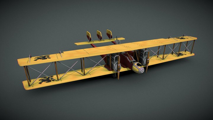 Caproni CA.5   ~   Stylized WW1 Aircraft 3D Model