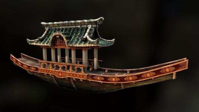 Japanese Boat 3D Model