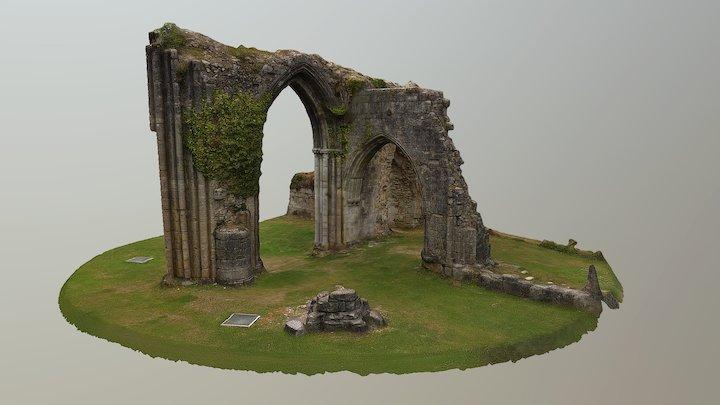Abbaye de Saint Evroult. Croisée du transept sud 3D Model