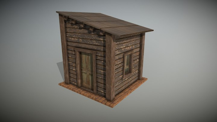 Small Cabin House 3D Model