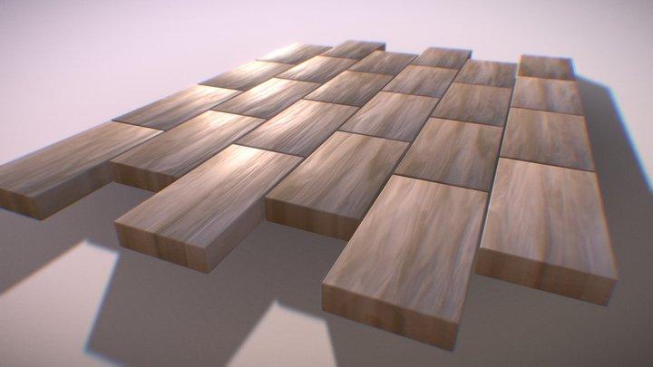 Wooden Planks 3D Model