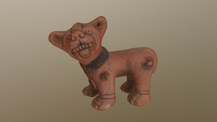 Mexican Dog Effigy. 3D Model